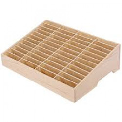 48 HOLDS WOODEN MOBILE STAND