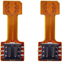 Hybrid Sim Slot Adapter to Run 2 Sim and Micro SD Card
