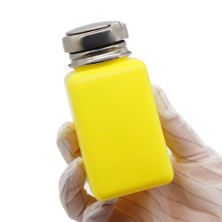 PLASTIC LIQUID ALCOHOL BOTTLE 100 ML - YELLOW