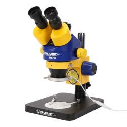 MECHANIC MC75T-B1 7-45X TRINOCULAR STEREO MICROSCOPE WITH 51 MP CAMERA