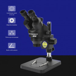 MECHANIC G75T MICROSCOPE STEREO TRINOCULAR BLACK ORIGINAL