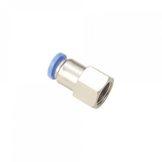 PUSH TO CONNECTOR FEMALE STRAIGHT 1/4′′ THREAD FOR AIRCOMPRESSOR