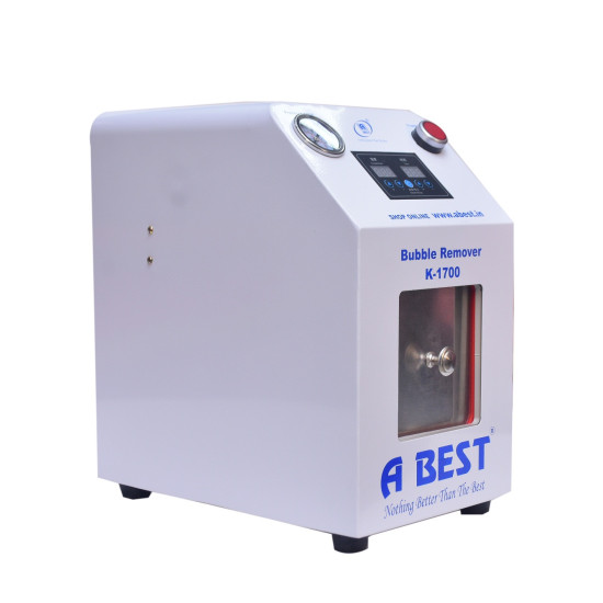 ABEST K-1700 BUBBLE REMOVER WITH 30 LTR OUTSTANDING COMPRESSOR.