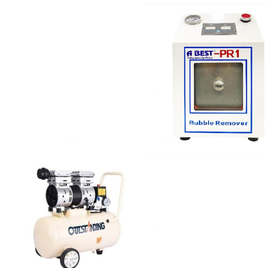 """ABEST 10"""" BUBBLE REMOVER WITH AIR COMPRESSOR 30LTR"""