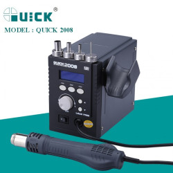 QUICK 2008 REWORK STATION ESD WITH HEAT CHANGING CHANNEL BUTTON