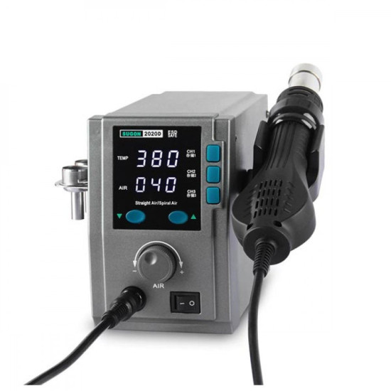 SUGON 2020D 700W HOT AIR GUN SOLDERING STATION WITH HEAT CHANGING CHANNEL - LEAD FREE