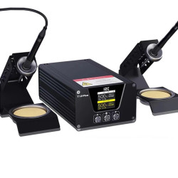 I2C T-12 PLUS SOLDERING STATION WITH DOUBLE HANDLES BASE AND IRON TIPS