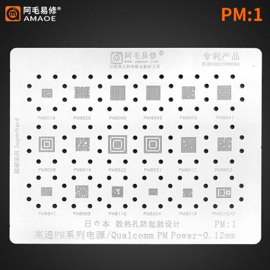PM -1 SERIES POWER IC BGA REWORK REBALLING STENCILS